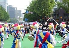 Danza popolare della Corea Fotografie Stock Libere da Diritti