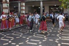 Danza popolare di Madeira Immagini Stock