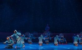 Danza popolare di musica-cinese di pesca Fotografie Stock