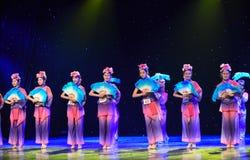 Danza popolare di palude-cinese di Reed gattino-Reed Immagini Stock Libere da Diritti