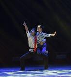 Danza popolare di sorveglianza del cittadino delle lanterne- Immagine Stock Libera da Diritti