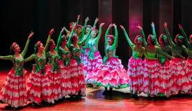 Danza popolare disalto-Yi delle ragazze-Axi del costume di Yi fotografia stock