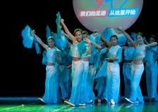 Danza popolare: Fan Fotografia Stock Libera da Diritti