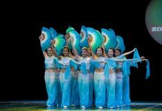 Danza popolare: Fan Fotografie Stock