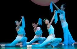 Danza popolare: Fan Fotografia Stock