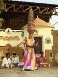 Danza popolare indiana Immagine Stock Libera da Diritti