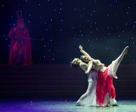 Danza popolare innamorato-bella di Re-cinese della scimmia Fotografia Stock