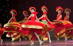 Danza popolare: melodia variopinta Fotografie Stock Libere da Diritti
