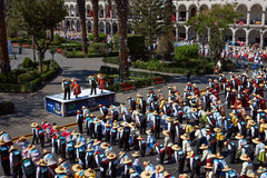Danza popolare peruviana Fotografia Stock Libera da Diritti