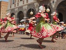 Danza popolare russa Immagine Stock