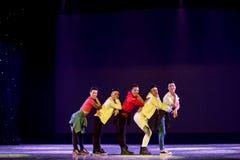 Danza popolare superiore coreana del cittadino della ciotola- Immagini Stock Libere da Diritti