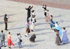 Danza popular fotografía de archivo libre de regalías
