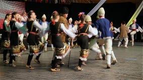 Danza popular búlgara almacen de metraje de vídeo
