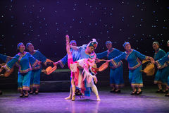 Danza popular Casamentero-Tórtola-china fotos de archivo