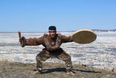 Danza popular de Chukchi Imagen de archivo libre de regalías