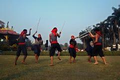 Danza popular de la India Foto de archivo
