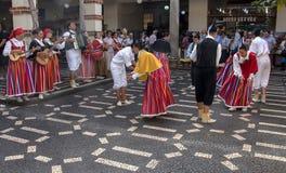 Danza popular de Madeira fotos de archivo