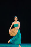 Danza popular del chino Imagen de archivo