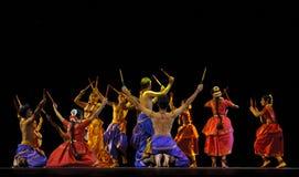Danza popular india Foto de archivo