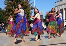 Danza popular india Fotografía de archivo