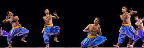 Danza popular india: Kalinga Nartanam Fotos de archivo libres de regalías