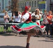Danza popular mexicana Imagen de archivo