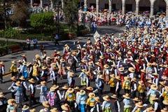 Danza popular peruana Fotografía de archivo libre de regalías