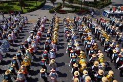 Danza popular peruana Foto de archivo