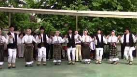 Danza popular rumana almacen de metraje de vídeo
