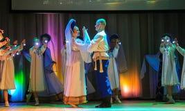 Danza popular rusa Fotografía de archivo libre de regalías