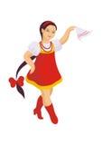 Danza popular rusa ilustración del vector