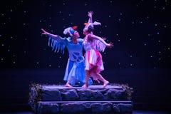 Danza popular Tórtola-china fotografía de archivo