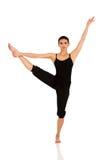 Danza practicante del ballet de la mujer fotos de archivo libres de regalías