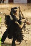 Danza: Rares Soponar y Alexandra Alicia Rusznyak Foto de archivo libre de regalías