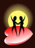 Danza romántica Fotografía de archivo libre de regalías