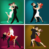 Danza romántica de los pares ilustración del vector