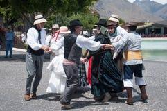 Danza tradicional canaria, Tenerife, España Imagen de archivo libre de regalías