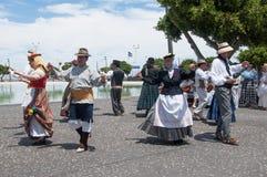 Danza tradicional canaria, Tenerife, España Foto de archivo