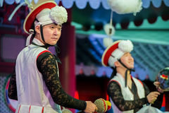 Danza tradicional coreana Fotos de archivo libres de regalías