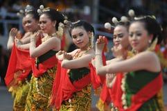 Danza tradicional de Gambyong de Java Foto de archivo