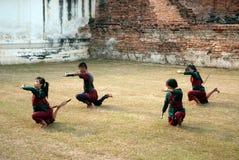 Danza tradicional de la cerca para la adoración de los profesores Fotos de archivo