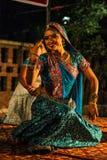 Danza tradicional de la India. Fotografía de archivo