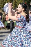 Danza tradicional del chile Imagen de archivo