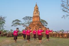 Danza tradicional del noreste tailandesa Fotos de archivo libres de regalías