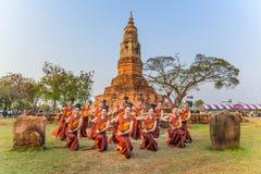 Danza tradicional del noreste tailandesa Foto de archivo