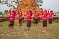 Danza tradicional del noreste tailandesa Fotografía de archivo