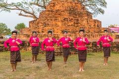 Danza tradicional del noreste tailandesa Fotografía de archivo libre de regalías