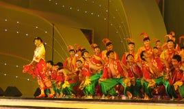 Danza tradicional en China Foto de archivo