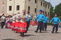 Danza tradicional rusa Imagen de archivo libre de regalías