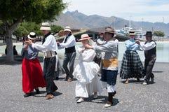 Danza tradicional, Tenerife, España Foto de archivo libre de regalías